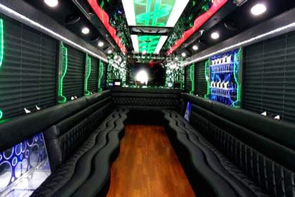 20 Passenger Party Bus Pompano Beach interior